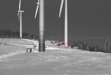 Eisfallereignis in einem Windpark